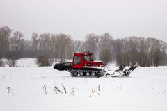 The machine for laying the ski slope Stock Photo