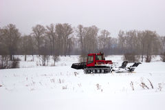 The machine for laying the ski slope Royalty Free Stock Photos