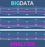 Futuristic Big data visualization in neon style. royalty free illustration