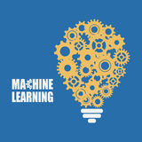 Machine learning and artificial intelligence royalty free illustration
