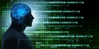 The machine learning and cognitive computing - 3d rendering stock photography