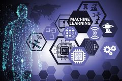The machine learning computing concept of modern it technology royalty free stock photos