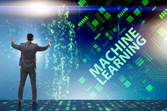 The machine learning concept as modern technology stock photo