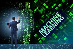 The machine learning concept as modern technology stock photos