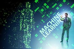 The machine learning concept as modern technology royalty free stock photo