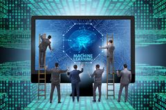 The machine learning concept as modern technology royalty free stock image
