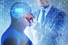 The machine learning concept as modern technology royalty free stock photography