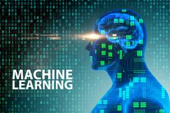 The machine learning concept - 3d rendering stock illustration