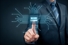 Machine learning concept Stock Image