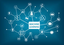 Machine learning concept  illustration Stock Photography