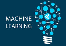 Machine learning concept Royalty Free Stock Image
