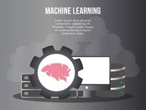 Machine learning concept illustration vector design template vector illustration