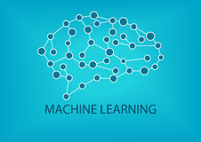 Machine learning concept. Vector illustration of neural network Stock Images