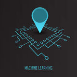 Machine learning geo mark vector Stock Photos