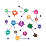 Machine learning and internet of things. Vector illustration Stock Photo