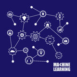 Machine learning and internet of things. Vector illustration Stock Photos