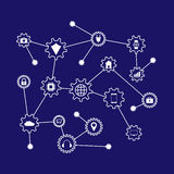Machine learning and internet of things. Vector illustration Royalty Free Stock Images