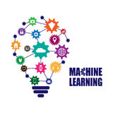 Machine learning and internet of things. Vector illustration Stock Photography