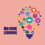 Machine learning and internet of things. Vector illustration Stock Image