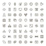 Machine learning. Icon set. Collection of high quality black outline logo for web site design and mobile apps. Vector illustration on a white background Stock Illustration