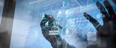 Free Machine Learning Technology Diagram With Artificial Intelligence AI,neural Network, Stock Photography - 159515752