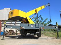 Machine for lifting loads, crane. Stock Image