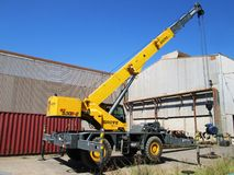 Machine for lifting loads, crane. Royalty Free Stock Photos