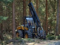 Machine logging, South Bohemia Stock Photos