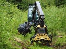 Machine logging, South Bohemia. Czech Republic Stock Photos