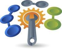 Machine logo Royalty Free Stock Photos