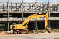 Machine lourde de tracteur pour la construction Image stock