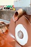 Machine making chocolate Royalty Free Stock Photo