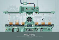 Machine and manufacture machinery factory vector Royalty Free Stock Photo