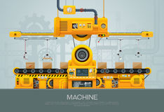 Machine and manufacture machinery factory vector vector illustration