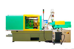 Machine for manufacture of products from plastic extrusion.  Stock Images