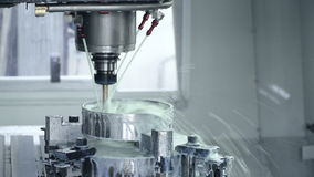 Machine manufacturing at the plant stock video footage