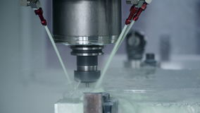 Machine manufacturing at the plant stock footage