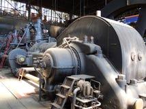 Machine, Motor - het Lagere Vitkovice-Gebied, Ostrava, Tsjechische Republiek stock foto