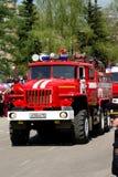Machine om branden op basis van auto ural-5557 te doven Stock Foto