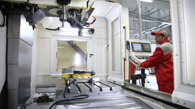 Machine operator CNC. Industrial equipment