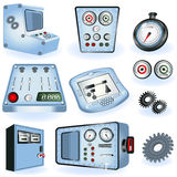 Machine Operators - Electric Controls Royalty Free Stock Images