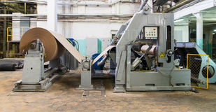 Machine at paper manufacture royalty free stock photos