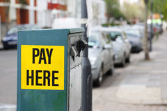 Machine Parking Royalty Free Stock Images