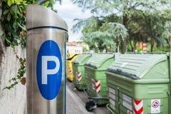 Machine parking Stock Photography