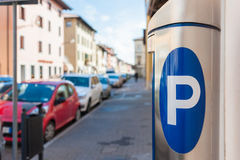 Machine parking Royalty Free Stock Image