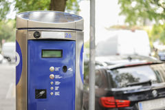 Machine parking Royalty Free Stock Photography