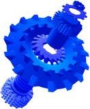 Machine Parts. Deconstraction of a machine part vector illustration