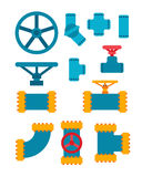 Machine parts different mechanism vector illustration. Stock Image