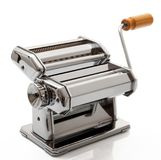 Machine for pasta on white background. Manual machine for pasta on white background stock image