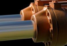 Machine piston hydraulic system industrial 3d illustration Stock Photography